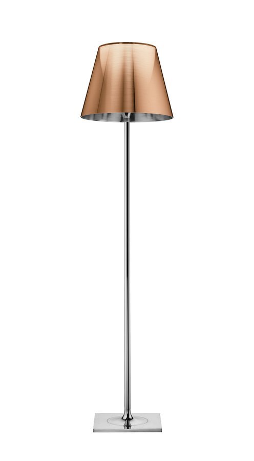 Elegant floor lamp providing diffused lighting base rod support and diffuser support in die cast polished and chrome plated zamak alloy