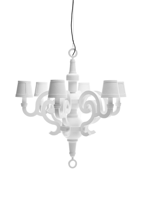 Paper chandelier by moooi ecc like modern day furniture this collection is an ode to classical style and to the material made of paper cardboard and honeycomb in white mozeypictures Choice Image