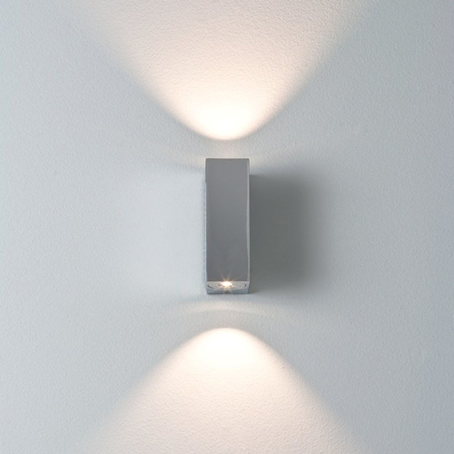 Bloc wall light by astro lighting ecc bloc bathroom wall light uses two 1w leds ip44 rated suitable for bathroom zones 2 and 3 class 2 double insulated includes integral led driver aloadofball Gallery