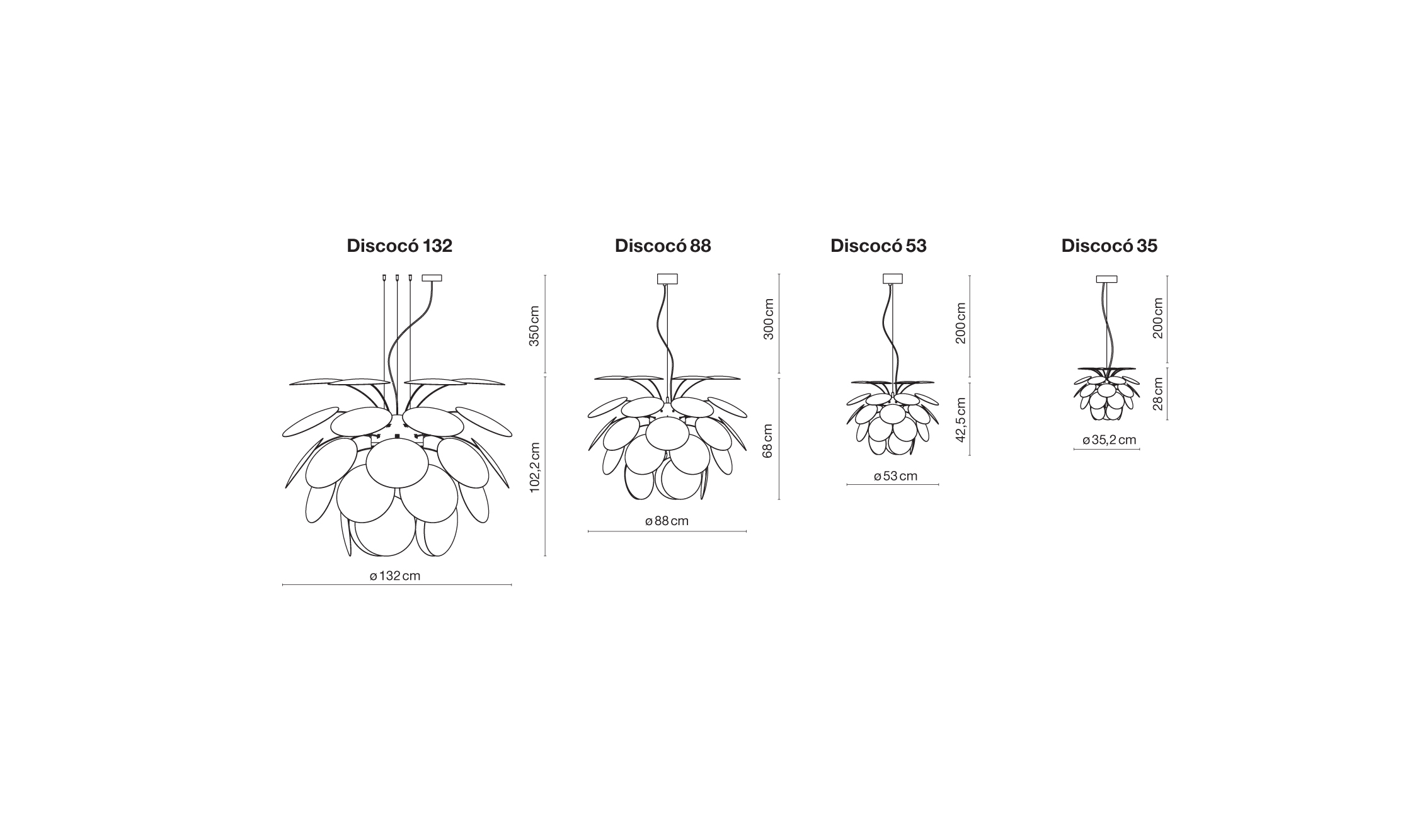 Discoco Pendant By Marset Ecc Nz Lighting Diagram Size Specifications
