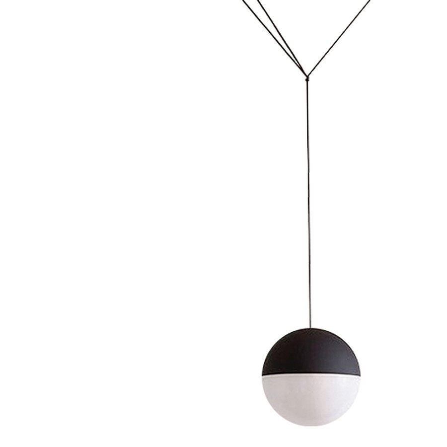 string light sphere head by flos ecc. Black Bedroom Furniture Sets. Home Design Ideas