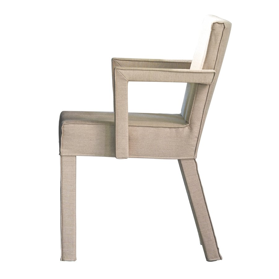 The sturdy austere saar dining room chair without armrest and siebe with armrest are made from a solid frame a durable seat and are fully covered with high
