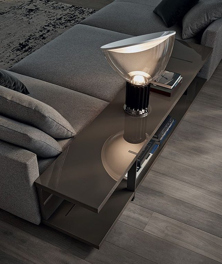 Taccia table lamp by flos ecc tablefloor lamp providing indirect and reflected light metal reflector with gloss white finish inside and white powder coated outside aloadofball Images