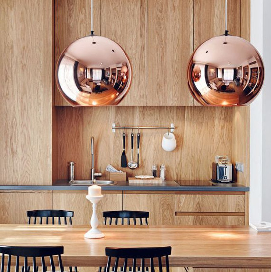 Copper Pendant Round By Tom Dixon Ecc