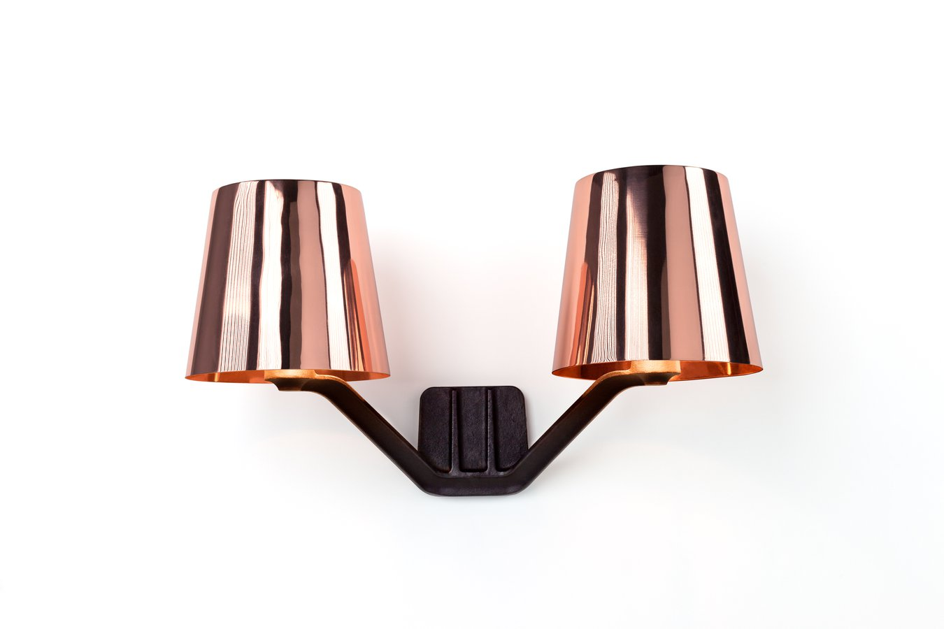 base wall light copper by tom dixon ecc. Black Bedroom Furniture Sets. Home Design Ideas