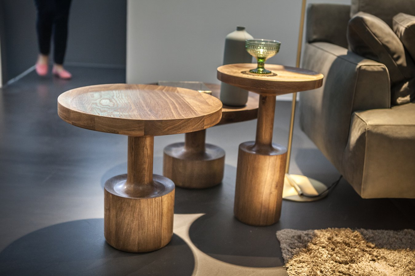 Roderick Vos Hss Designed 3 Round Oak Side Tables In Different Sizes And  Height, Named KIGI,   U0027a Family Of Treesu0027  Strongly Influenced By The  Japanese ...