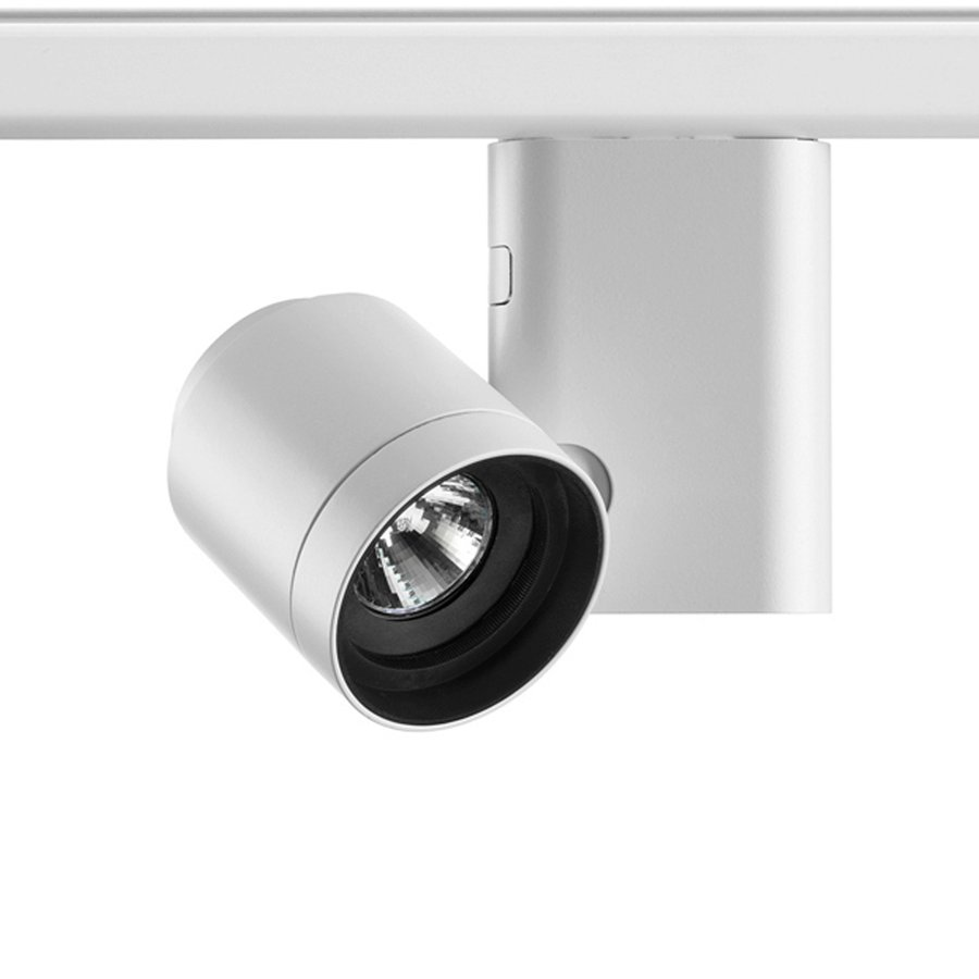 Pure track spot by flos architectural ecc luminaire for ceiling or three phase electric track installation for led lamps very low voltage halogen lamps or standard and discharge lamps aloadofball Images
