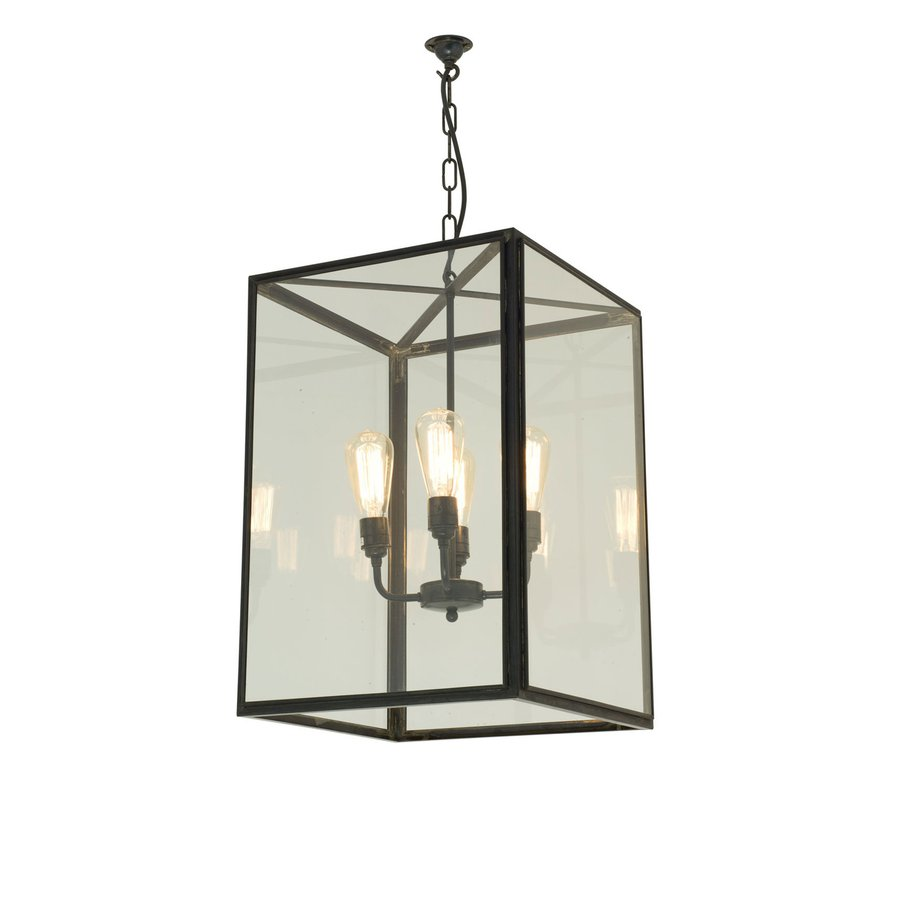 Davey Lighting S Square Pendant Large 7639 4ele Is The Largest Of Three Ceiling Light Sizes A 230 Volt Interior Ing With Four Lamp
