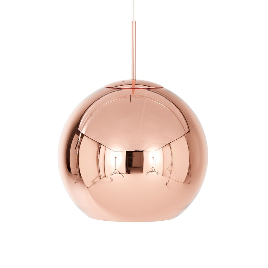 Copper pendant round by tom dixon ecc Tom dixon lighting