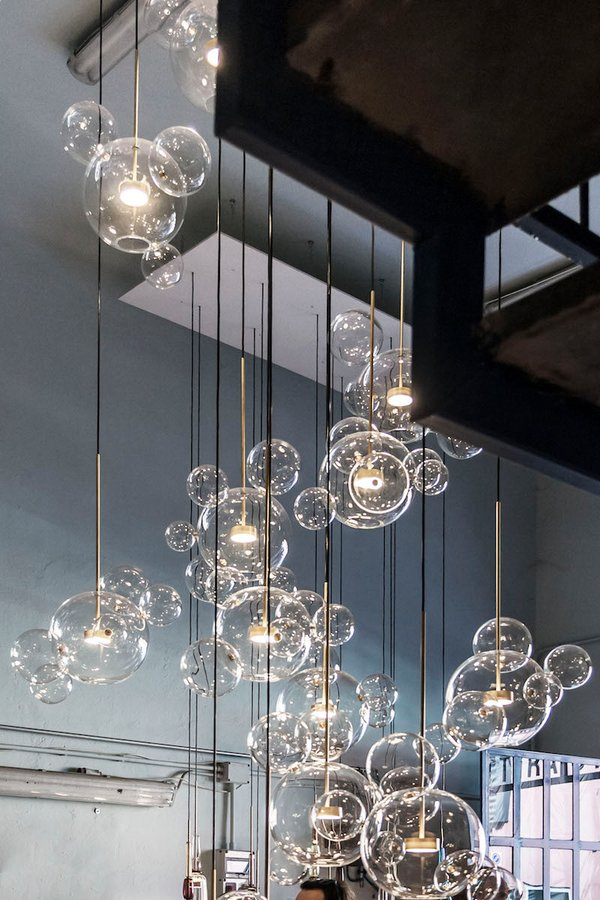 Bolle 4 bubble pendant by giopato coombes ecc the new bolle lamp designed by the anglo italian team giopato coombes is inspired by the lightness of soap bubbles as a metaphor for the emptiness of aloadofball Images