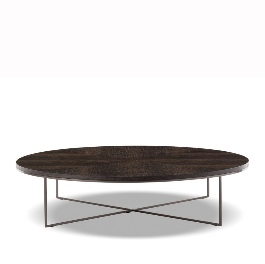 Calder bronze coffee table round by minotti ecc Bronze coffee tables