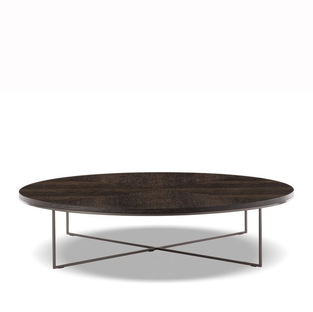 White Coffee Table Nz: Calder Bronze Coffee Table Round By Minotti —