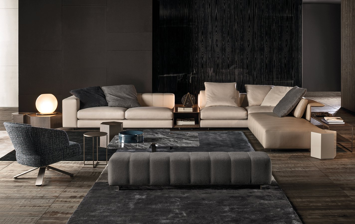 Freeman Stand Alone Bench By Minotti Ecc