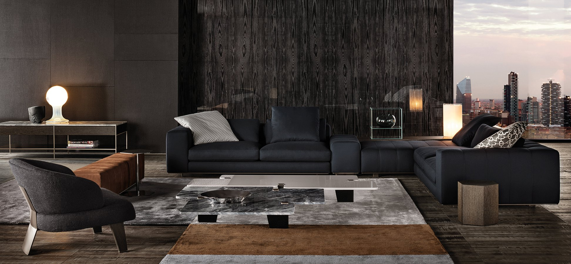 Freeman Tailor Seating System By Minotti Ecc