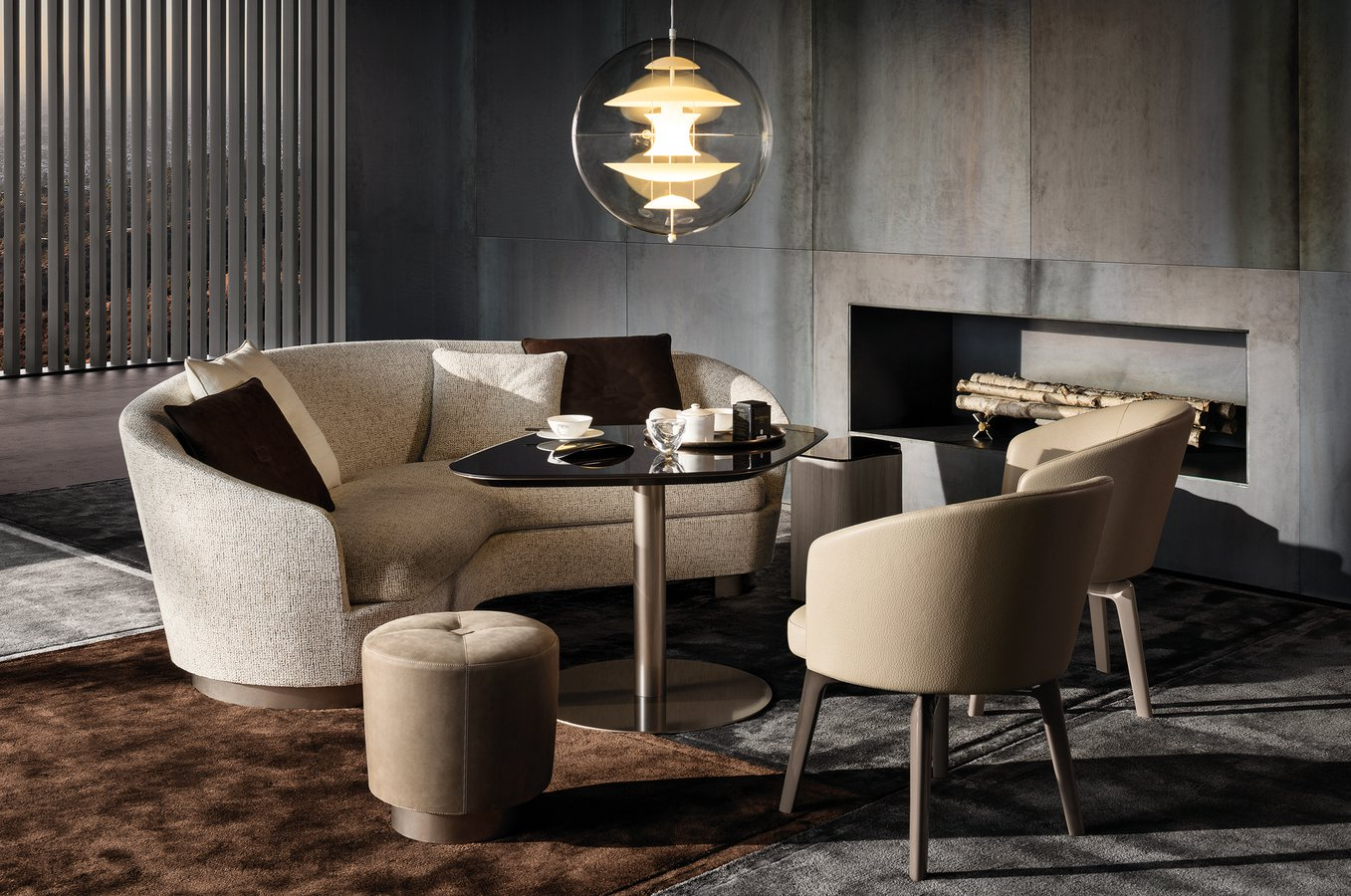 minotti lighting. The Enveloping Lines Of Amélie Little Armchair Ensure Perfect Blend Elegant Proportions And Ergonomic Comfort. Minotti Lighting