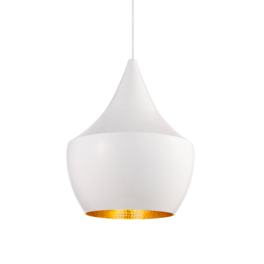 Beat Light White Fat Pendant By Tom Dixon Ecc