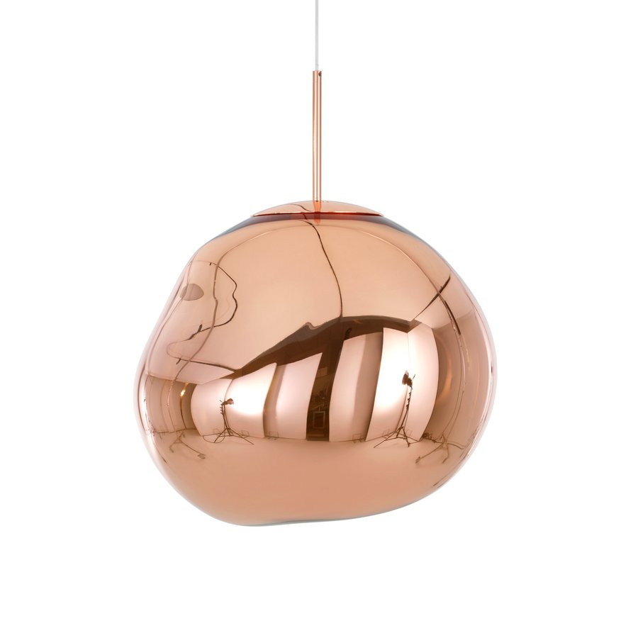 With MELT, Our Experiments In The Technologically Advanced Field Of Vacuum  Metallisation Takes On A New Twist. MELT Copper Is A Distorted Lighting  Globe ...
