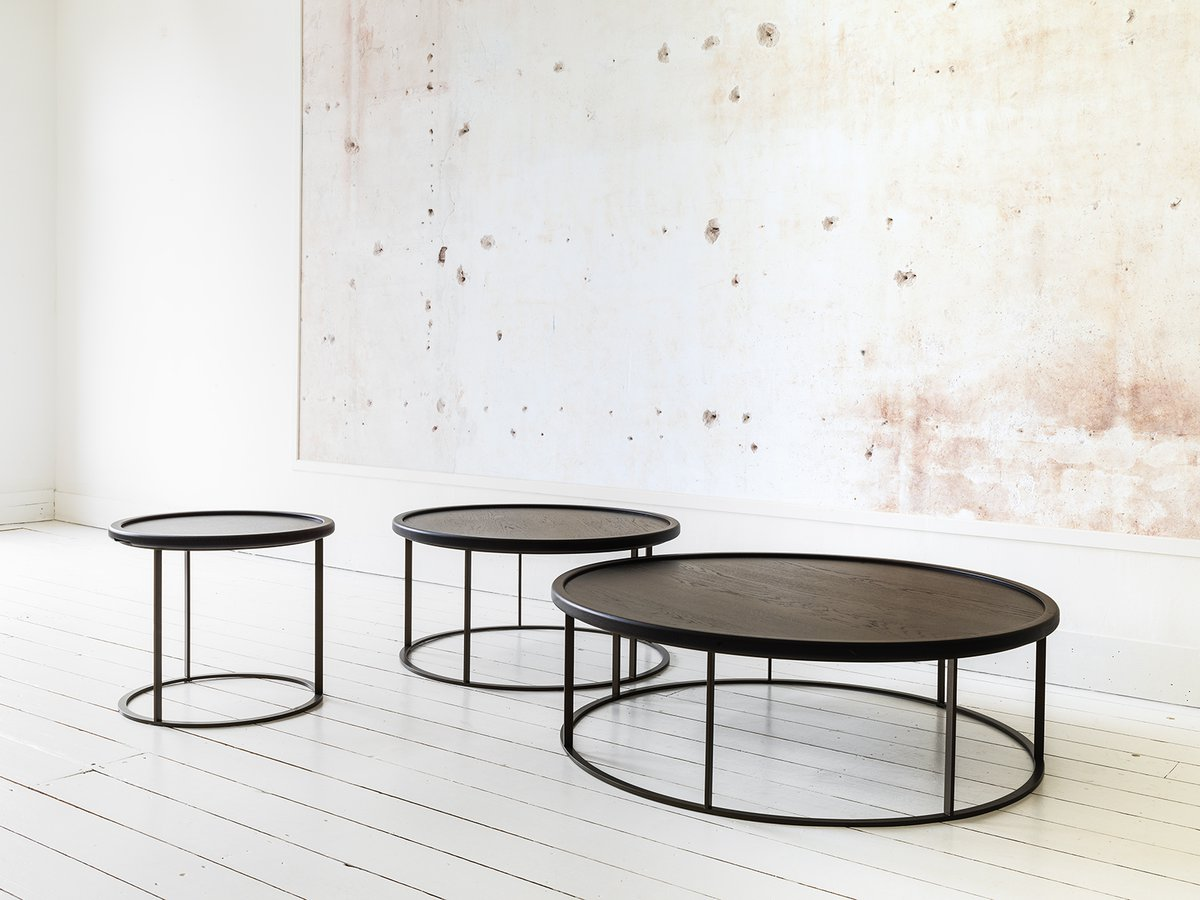 This Distinctively Designed Series Of Round Tables Lends A Stylish And Playful Note To Any Interior The Combination Materials Solid Oak Top With